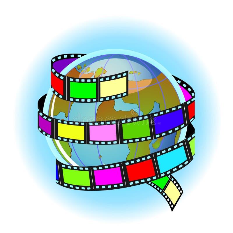 Worldwide movie royalty free illustration
