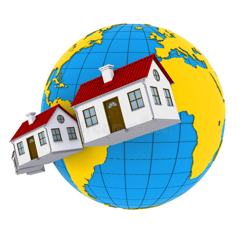 Download Worldwide Properties stock illustration. Image of investment - 21814911