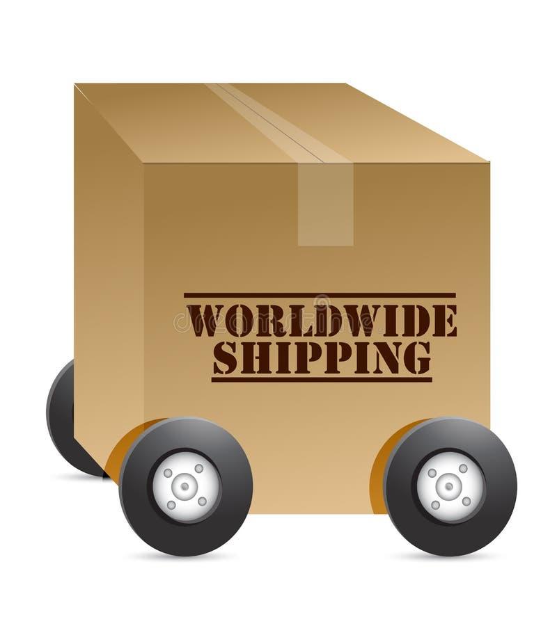 Worldwide Shipping Web Shop Royalty Free Stock Photo