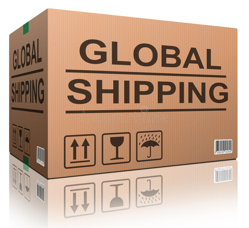 Worldwide shipping royalty free illustration