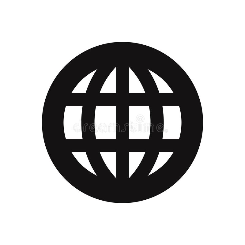 Worldwide vector icon. Worldwide, web symbol for design royalty free illustration