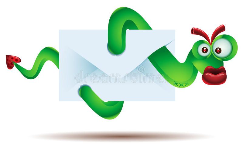 Download Worm stock vector. Image of email, loss, infection, character - 23517761