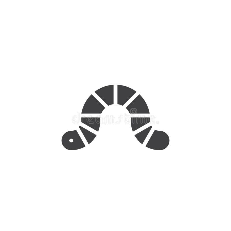 Worm vectorpictogram royalty-vrije illustratie
