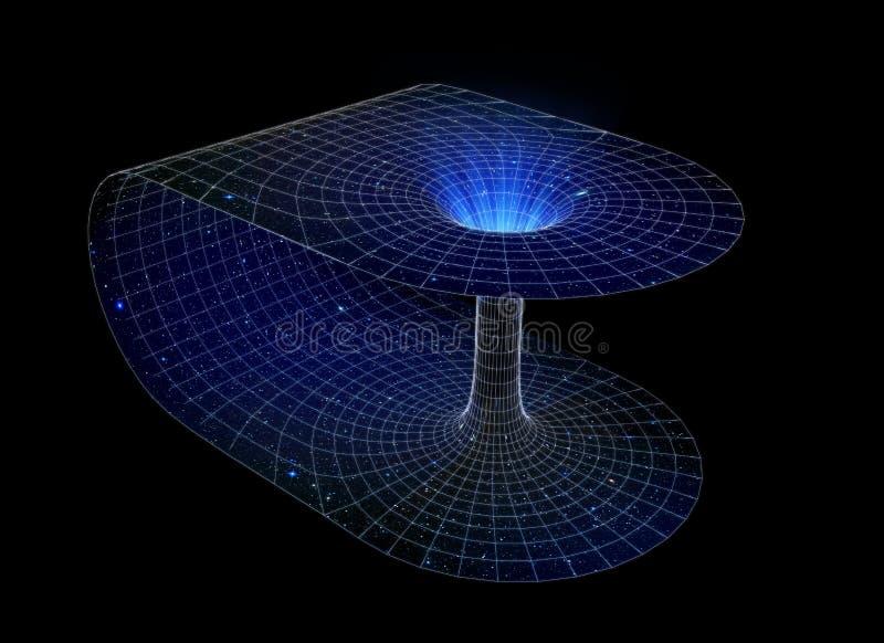 Wormhole. 3D representation of a wormhole vector illustration