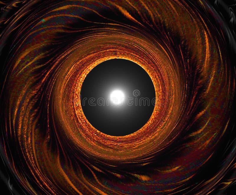 Wormhole de espiralamento - sua opinião apenas antes de retirar o Wormhole ilustração do vetor