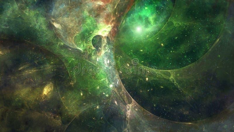 Wormhole in diepe ruimte vector illustratie