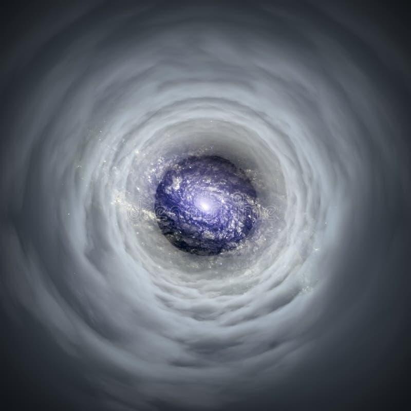 wormhole illustration stock