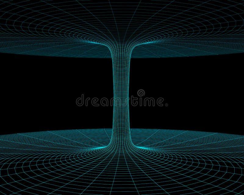 Wormhole model. Illustration of the meshy wormhole model vector illustration