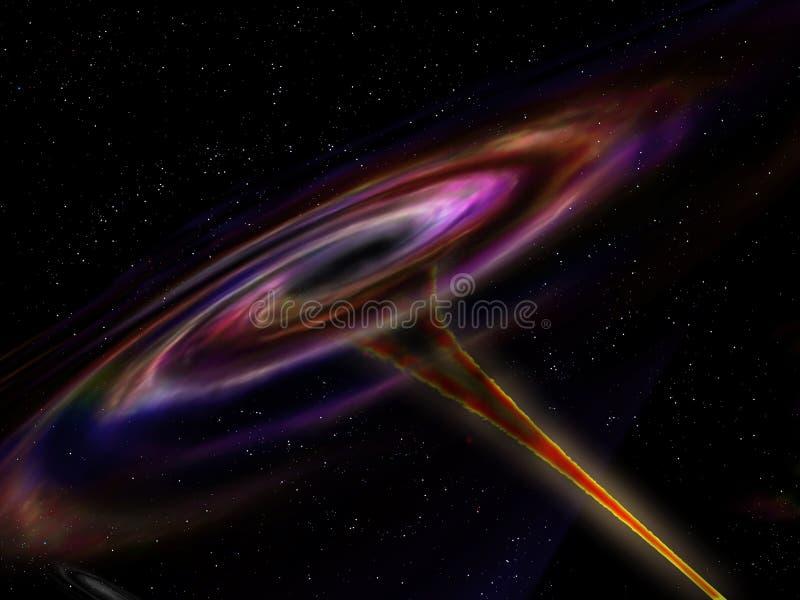 Wormhole nello spazio cosmico illustrazione vettoriale