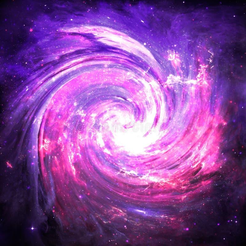 Wormhole roxo - elementos desta imagem fornecidos pela NASA ilustração stock