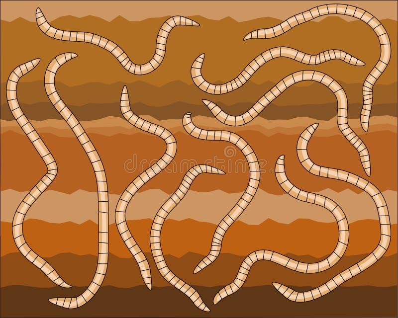 Worms stock illustration