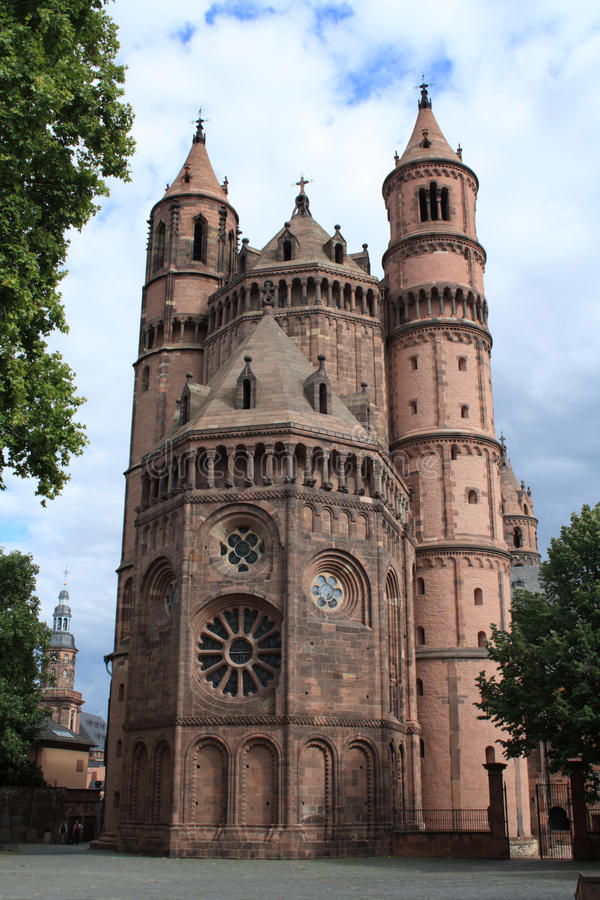 Worms Cathedral. Beautiful Cathedral located in Worms, Rhineland-Palatinate, Germany stock photos