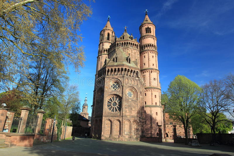 Worms Cathedral. St. Peter's Dom in Worms, Germany royalty free stock photo
