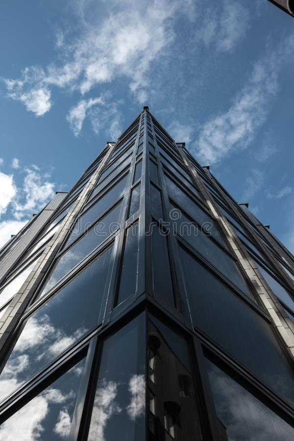 Worms View Photo of High Rise Building stock photo