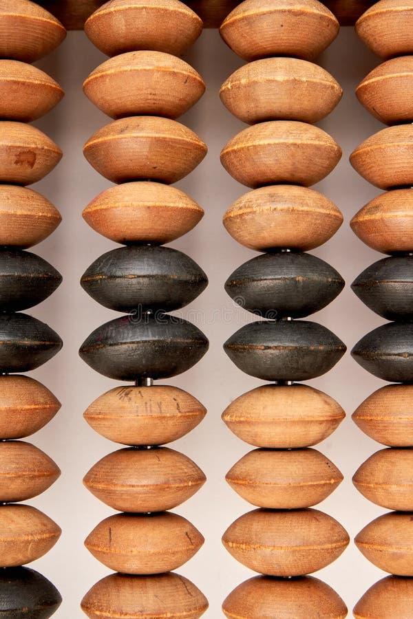 Worn постаретый деревянный абакус стоковые фотографии rf