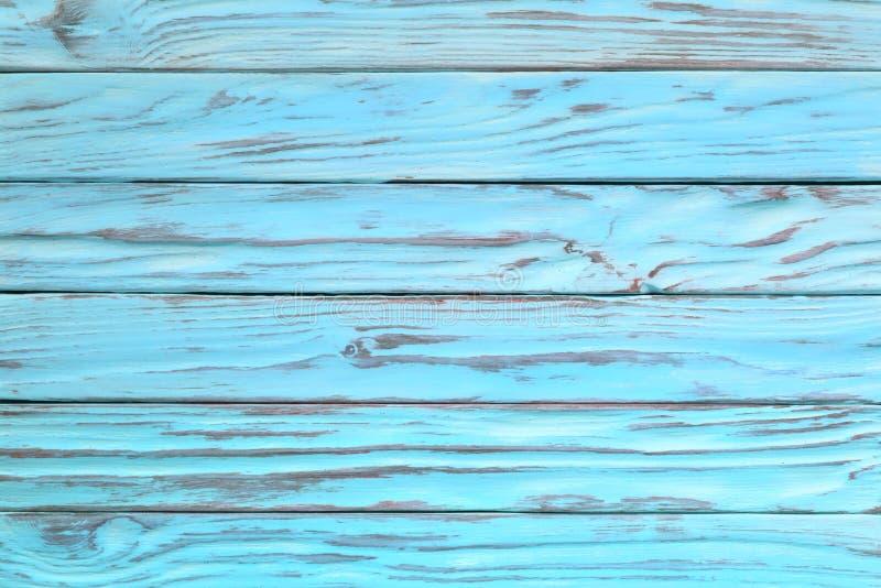 Worn древесина бирюзы или голубого цвета Покрашенная деревянная текстура как стоковые изображения rf