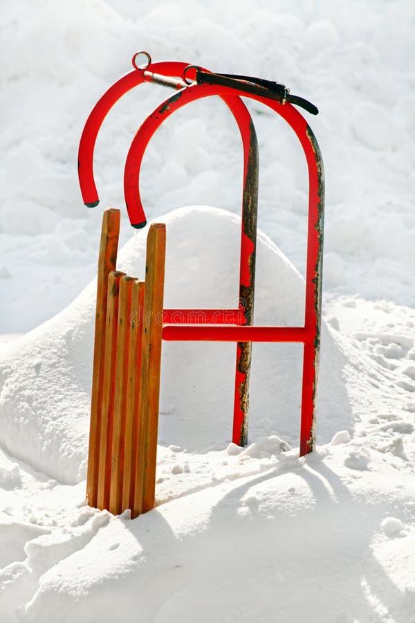 Worn скелетон в снеге стоковая фотография