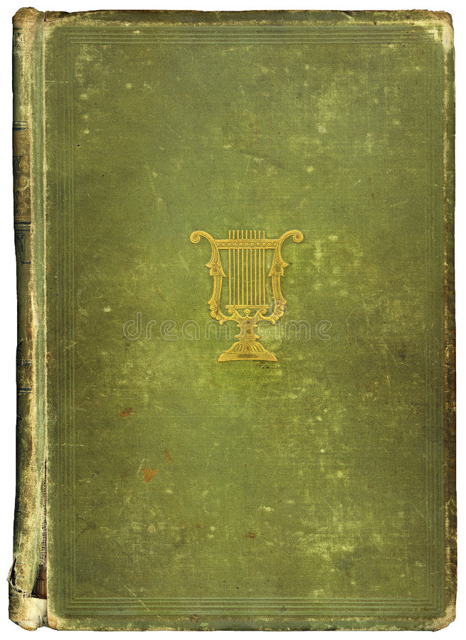 Worn antique book with Musical Symbol stock images