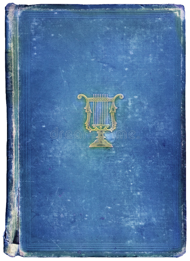 Worn antique book with Musical Symbol stock photography