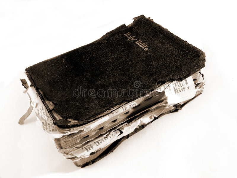 Worn Bible royalty free stock photos