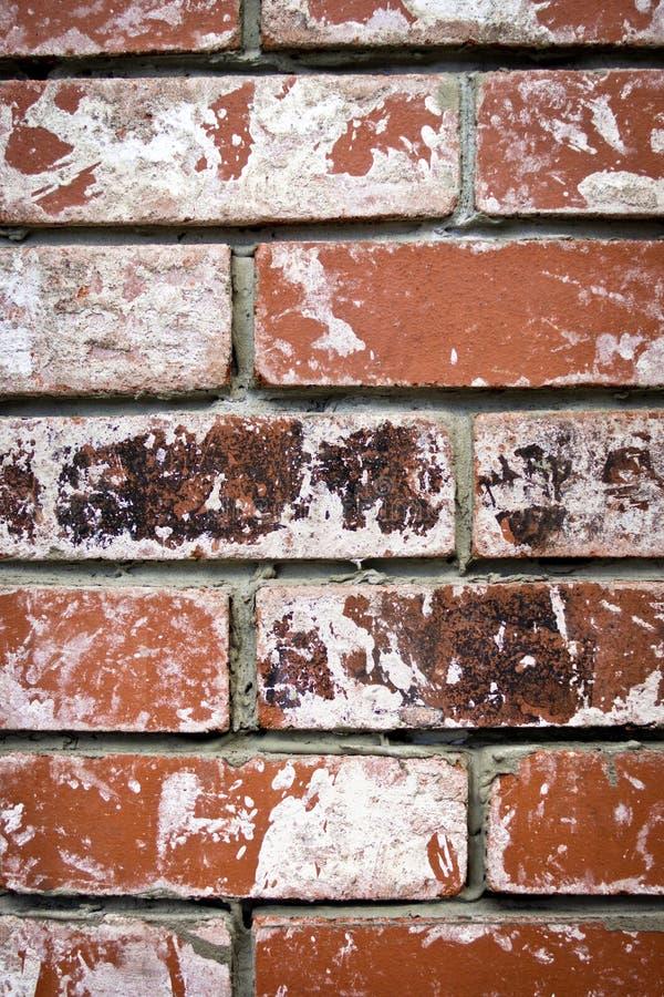 Worn bricks stock image