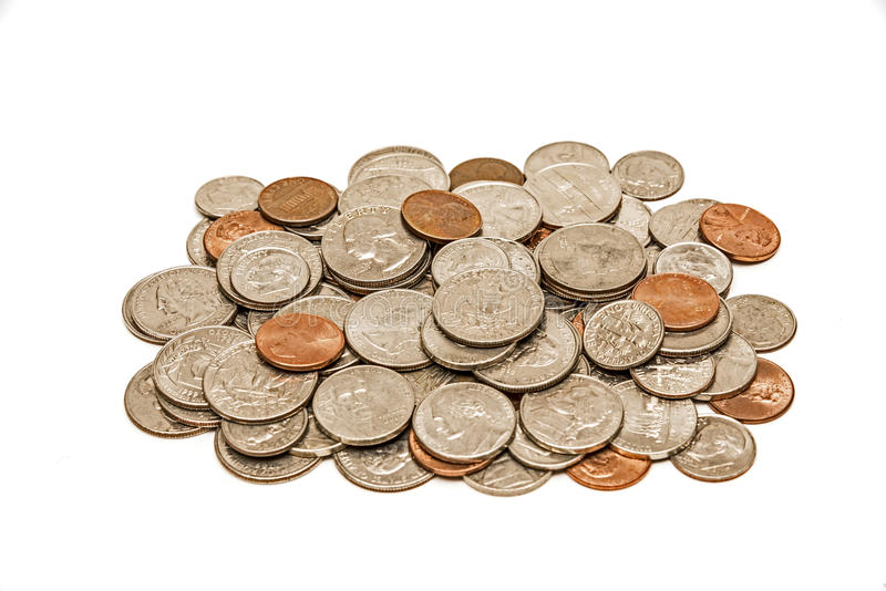 Download Worn And Dirty Pile Of Coins Royalty Free Stock Images - Image: 29480199
