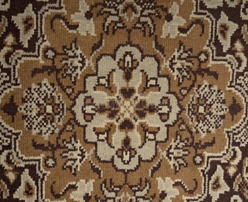 Worn floor cover in house hall. Old carpet royalty free stock image