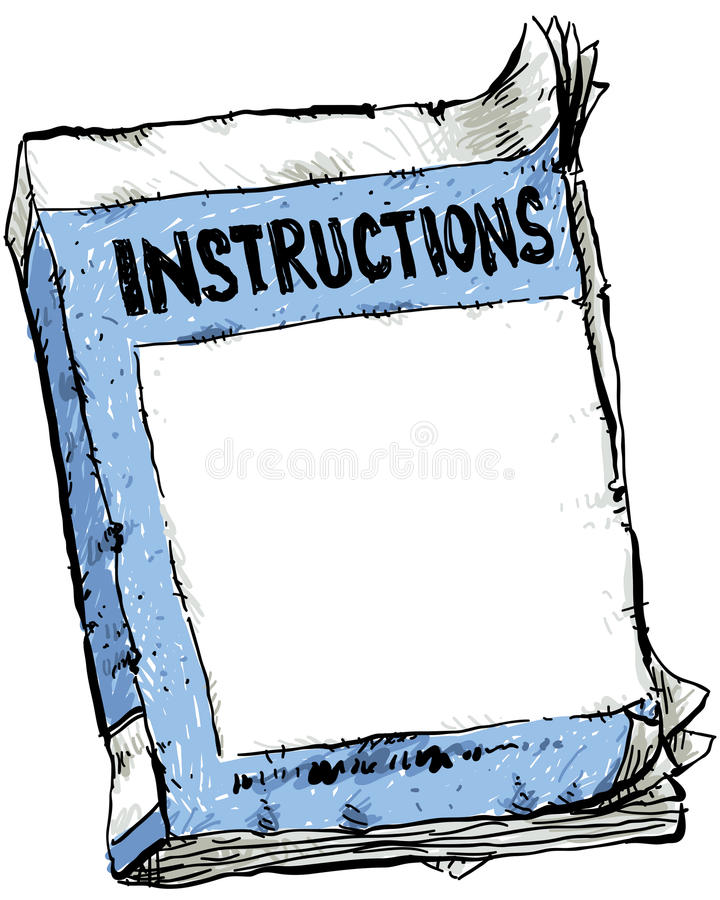 Download Worn Instruction Booklet stock illustration. Image of earred - 33565311