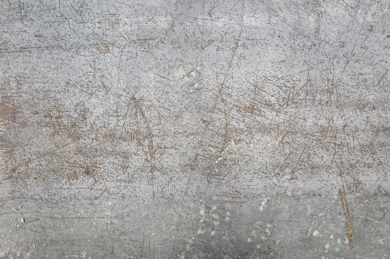 Worn metal sheet floor texture. Background stock images