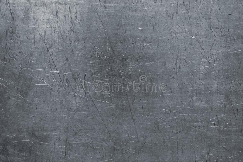 Damaged Steel Texture Dark Metal Background With