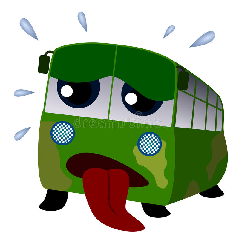 Worn out bus vector illustration