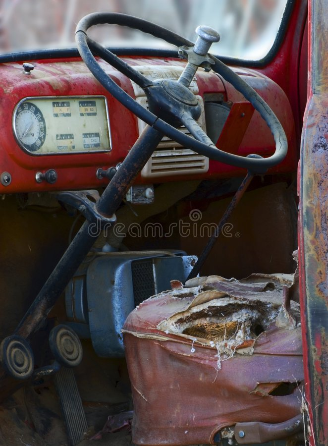 Download Worn out truck interior stock image. Image of past, transportation - 2287593
