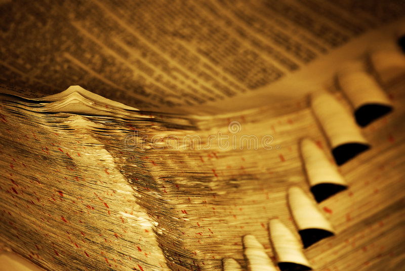 Worn pages of book stock images