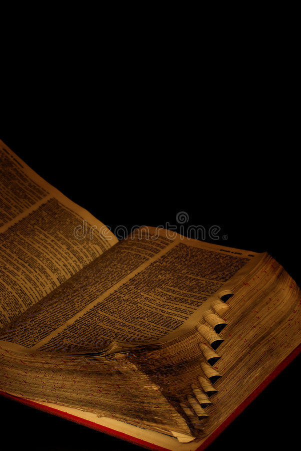 Worn pages of book stock photo