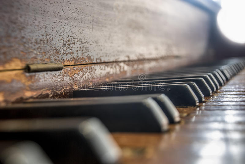 Worn Piano Keyboard stock images