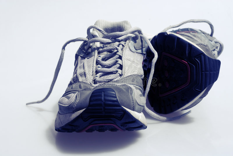 Worn Sneakers Trainers stock image