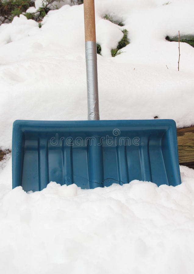 Download Worn Snow Shovel Repaired With Tape Around Handle Stock Photo - Image: 37856300
