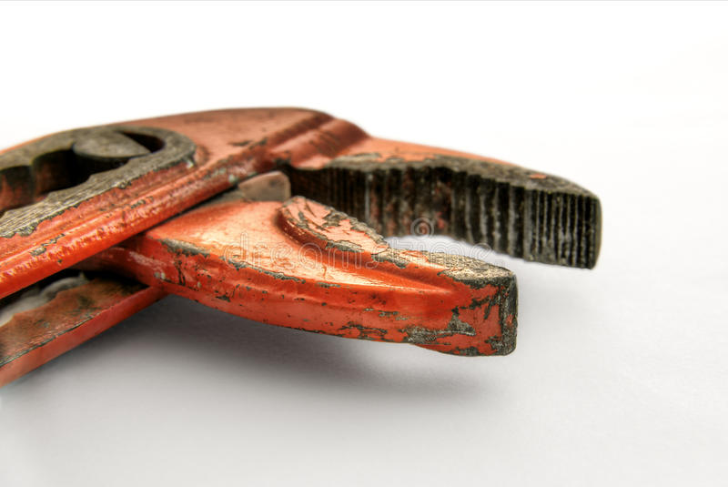 Worn water pump pliers HDR stock images