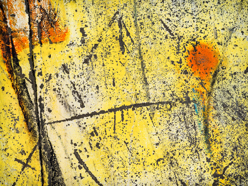 Download Worn yellow paint stock photo. Image of scratches, scratched - 29269706