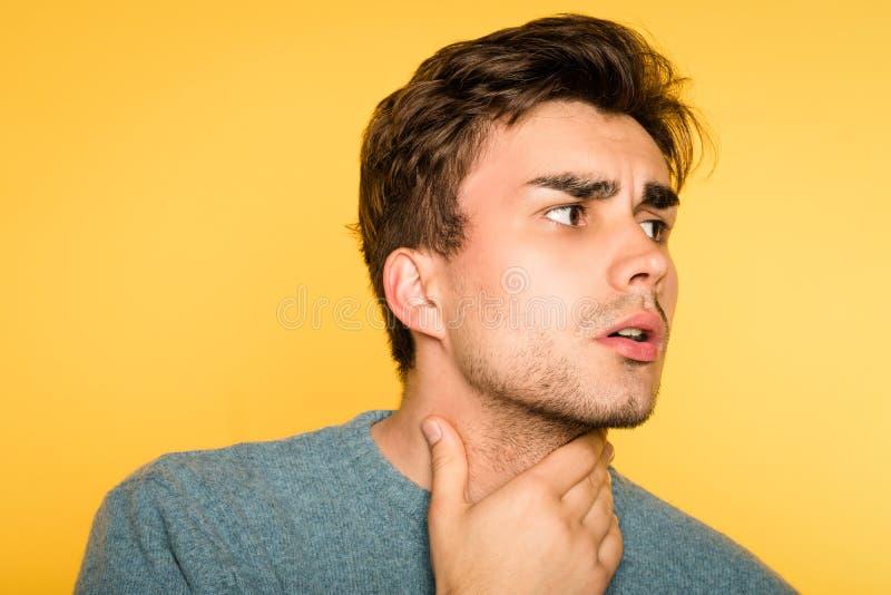 Worried alarmed concerned man nervous emotion royalty free stock photo