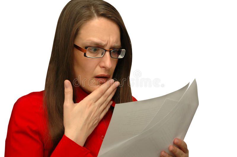 Worried business woman stock photos