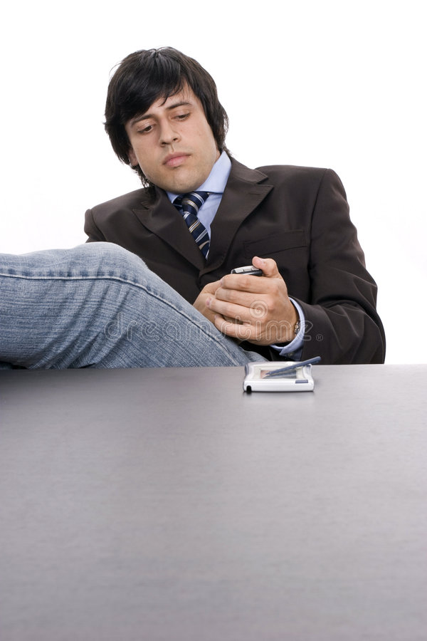 Download Worried Businessman Phoning Stock Photo - Image: 6015190