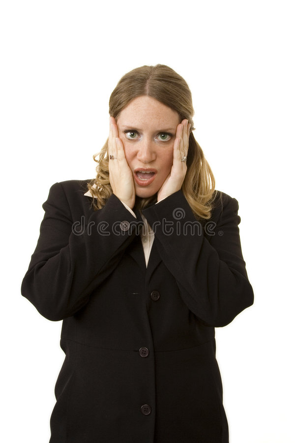 Download Worried Businesswoman stock photo. Image of look, overload - 2537990