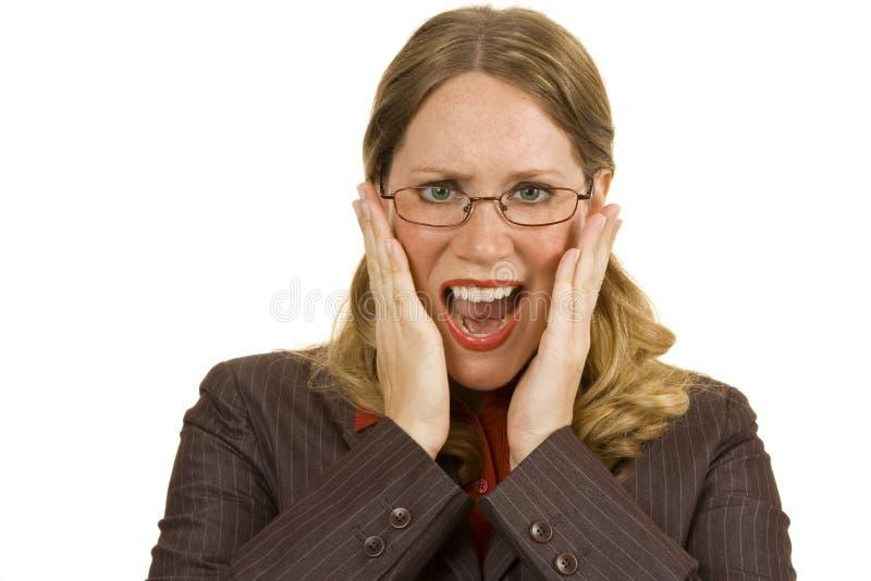 Worried Businesswoman stock image