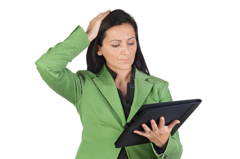 Download Worried Businesswoman Reading Stock Image - Image: 11846359