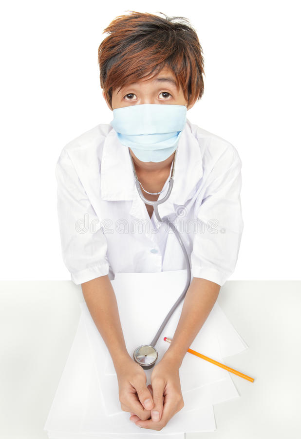 Download Worried Doctor W Surgical Mask Stock Photo - Image: 12555328