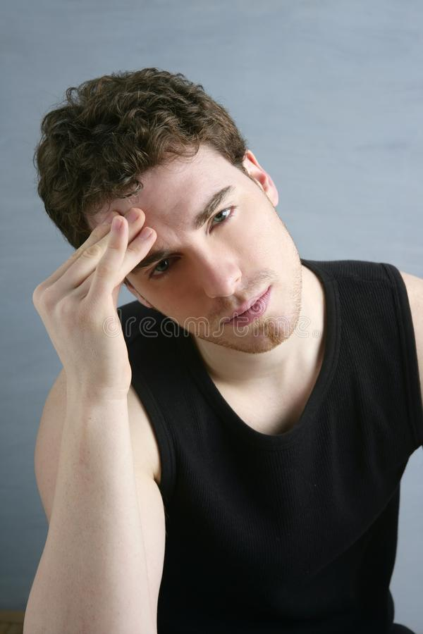 Download Worried Gesture Pain Young Man Headache Stock Photos - Image: 14270903