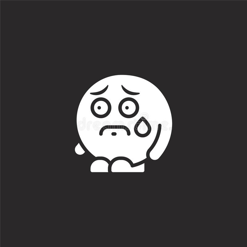 worried icon. Filled worried icon for website design and mobile, app development. worried icon from filled emoji people collection stock illustration