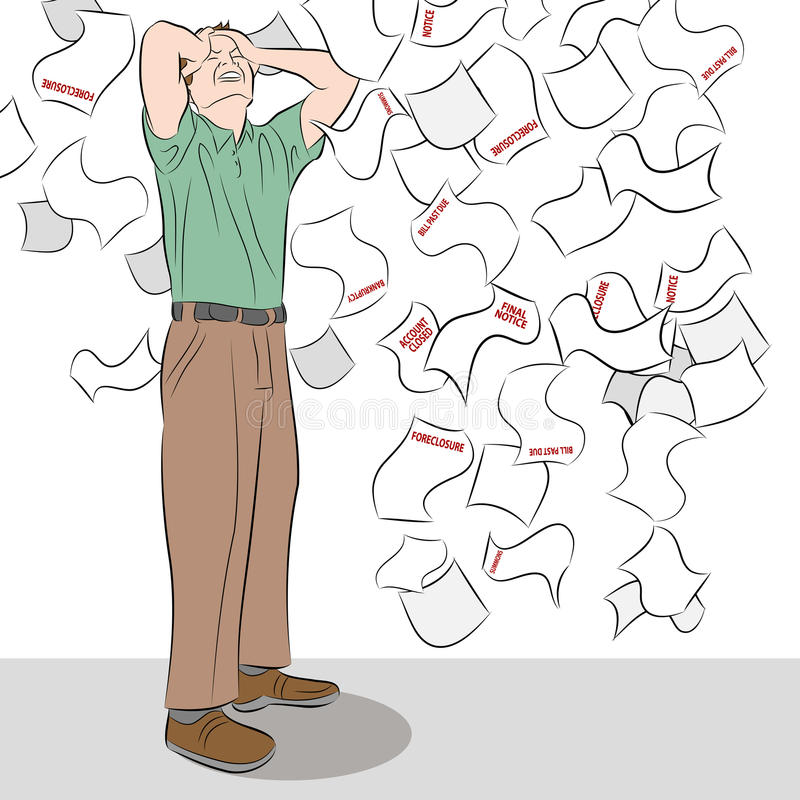 Download Worried Man stock vector. Image of cartoon, falling, graphic - 24076455