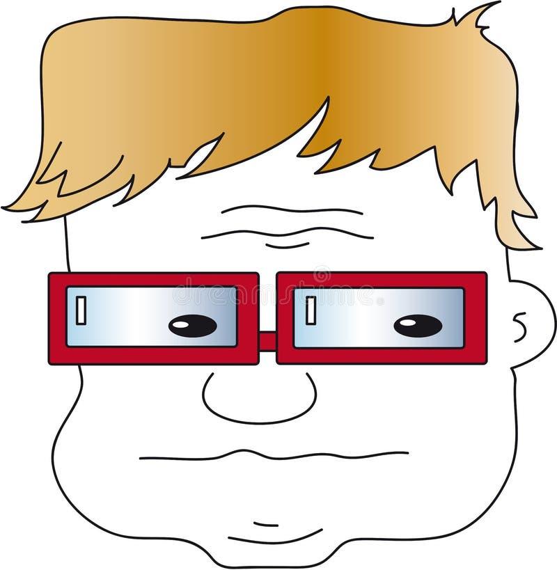 Worried man royalty free illustration